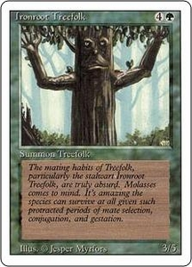 Magic the Gathering Revised Edition Single Card Common Ironroot Treefolk