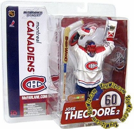 McFarlane Toys NHL Sports Picks Series 10 Action Figure Jose Theodore (Montreal Canadiens) White Jersey Variant
