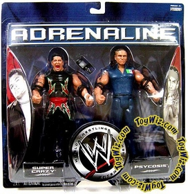 WWE Jakks Pacific Wrestling Adrenaline Series 17 Action Figure 2-Pack Super Crazy & Psycosis [The Mexicools]