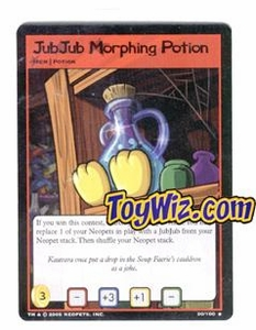 Neopets Trading Card Game Lost Desert Single Card Rare  30/100 Jub Jub Morphing Potion