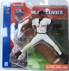 McFarlane Toys MLB Sports Picks Series 1 Action Figure Pedro Martinez (Boston Red Sox) White Jersey