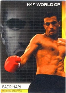 Epoch MMA K-1 World GP Trading Card #08 Badr Hari