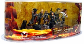 Disney Pirates of the Caribbean At World's End Movie Exclusive 6 Piece PVC Mini Figure Collector Set