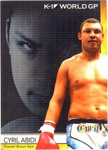 Epoch MMA K-1 World GP Trading Card #32 Cyril Abidi