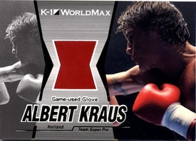 Epoch MMA K-1 World GP Insert Card G12 Albert Kraus Game-Used Glove 14/130
