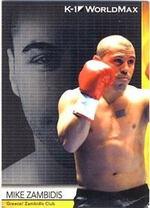 Epoch MMA K-1 World GP Trading Card #44 Mike Zambidis