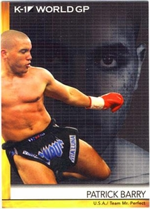Epoch MMA K-1 World GP Trading Card #31 Patrick Barry