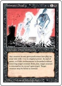 Magic the Gathering Revised Edition Single Card Uncommon Animate Dead