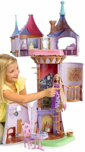 Disney Tangled Rapunzel Deluxe Playset Fairy Tale Tower