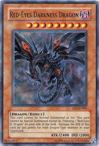 YuGiOh GX Dragon's Roar Single Card Ultra Rare SD1-EN001 Red-Eyes Darkness Dragon