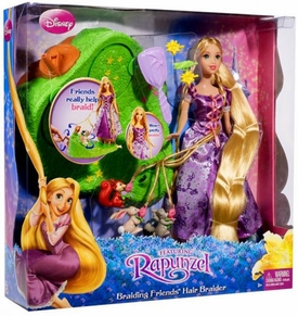 Disney Tangled Braiding Friends Playset Rapunzel Hair Braider [Includes Rapunzel Doll & Animal Friends]