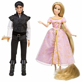 Disney Tangled Exclusive Doll Figure 2-Pack Wedding Celebration [Flynn Rider in Black Shirt & Rapunzel]