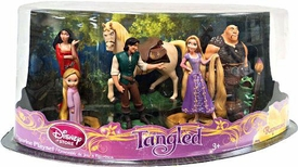 Disney Tangled Exclusive 7 Piece Mini PVC Figurine Set [Rapunzel, Flynn, Maximus, Toddler, Rapunzel, Mother Gothel, Hookhand Thug & Pascal]