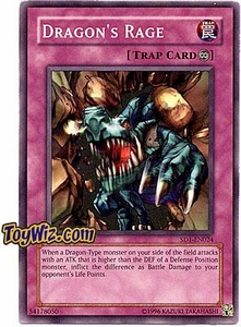 YuGiOh GX Dragon's Roar Single Card Dragon's Rage SD1-EN024