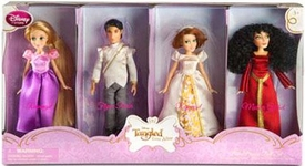 Disney Tangled Ever After Exclusive Mini Princess Doll 4-Pack Rapunzel, Flynn Rider, Wedding Gown Rapunzel & Mother Gothel