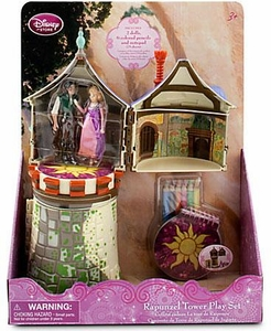 Disney Tangled Exclusive Rapunzel Tower Playset [2 Dolls, 6 Pencils & Notepad]