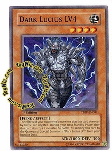 YuGiOh GX Cyberdark Impact Single Card Common CDIP-EN009 Dark Lucius LV4
