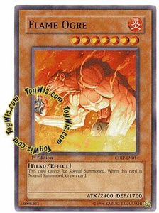 YuGiOh GX Cyberdark Impact Single Card Common CDIP-EN014 Flame Ogre