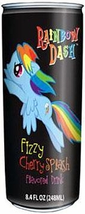 My Little Pony Can of Non-Caffeinated Flavored Drink Rainbow Dash Fizzy Cherry Splash
