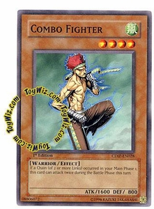 YuGiOh GX Cyberdark Impact Single Card Common CDIP-EN028 Combo Fighter