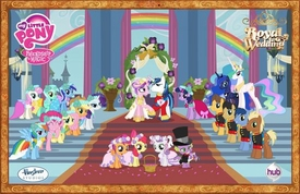 My Little Pony Friendship is Magic 11 Inch x 17 Inch Poster Royal Wedding