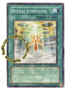 YuGiOh GX Cyberdark Impact Single Card Common CDIP-EN039 Ritual Foregone