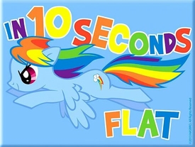 My Little Pony Magnet Rainbow Dash [In 10 Seconds Flat]