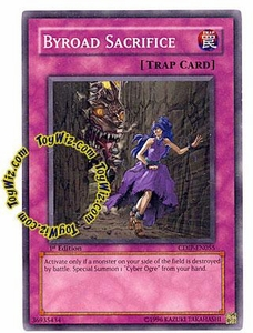 YuGiOh GX Cyberdark Impact Single Card Common CDIP-EN055 Byroad Sacrifice
