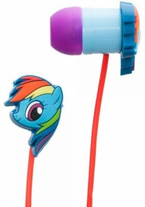 My Little Pony Rubber Ear Buds Rainbow Dash