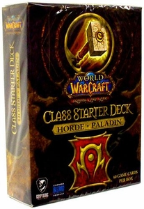World of Warcraft Trading Card Game Class Starter Deck HORDE Paladin