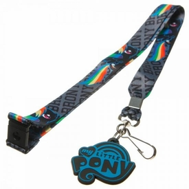 My Little Pony Brony Gray Lanyard with Rubber Charm Rainbow Dash Pre-Order ships August