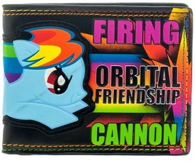 My Little Pony Bi-Fold Wallet Rainbow Dash Firing Orbital Friendship Cannon [Black]