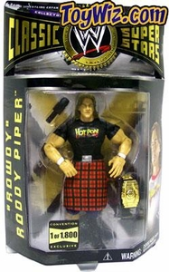 WWE Jakks Pacific Wrestling Classic Superstars Exclusive Action Figure Black Shirt Rowdy Roddy Piper [1 of 1800]