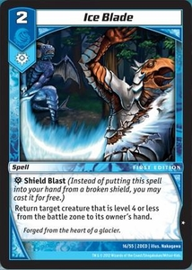 Kaijudo Dojo Edition Single Card Common #16 Ice Blade