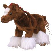 Ty Beanie Baby Hoofer the Clydesdale Horse