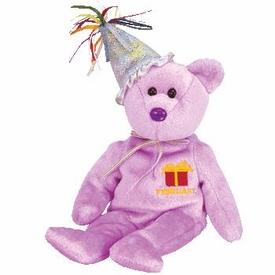 Ty Beanie Baby February the New Version Birthday Bear