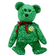 Ty Beanie Baby Green Decade the Bear