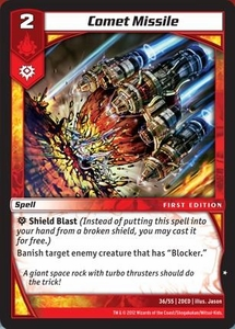 Kaijudo Dojo Edition Single Card Common #36 Comet Missile
