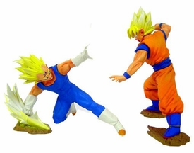 Dragonball Z BanPresto Set of Both 5 Inch Mini PVC Statues [Super Saiyan Vegeta 4 & Super Saiyan Son Goku]