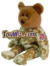 Ty Beanie Baby Exclusive Hero the UK Soldier Bear