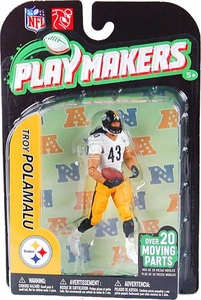 McFarlane Toys NFL Playmakers Series 2 EXTENDED EDITION Action Figure Troy Polamalu (Pittsburgh Steelers)