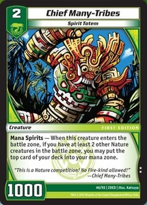 Kaijudo Dojo Edition Single Card Uncommon #46 Chief Many-Tribes