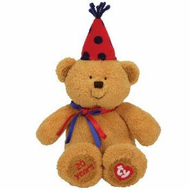 Ty Beanie Baby Fun 20th Anniversary Red Hat Bear BLOWOUT SALE!