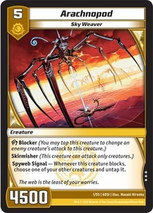 Kaijudo DragonStrike Infernus Single Card Rare #1 Arachnopod