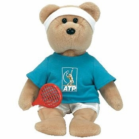 Ty Beanie Baby Feder-Bear the Tennis Star Bear