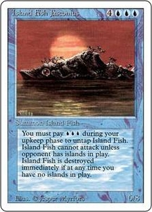 Magic the Gathering Revised Edition Single Card Rare Island Fish Jasconius