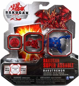 Bakugan Super Assault Single Figure Aquos [Blue] BakuTremor [Vibrates!]