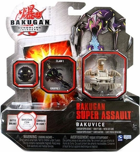 Bakugan Super Assault Single Figure Luminoz [Grey] BakuVice [Claw!] 740 G