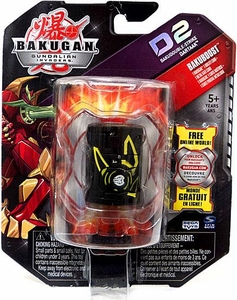 Bakugan D2 Single Figure LOOSE Darkon [Black] Bakudouble-Strike Dartaak BLOWOUT SALE!