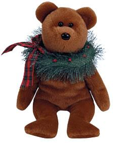 Ty Beanie Baby Hollydays the Christmas Bear